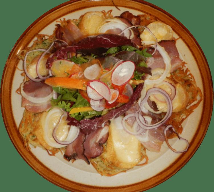 Galettes de pomme de terre gratinées au munster